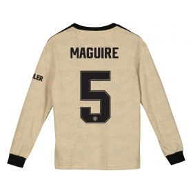 Manchester United Cup Away Shirt 2019 - 20 - Kids - Long Sleeve with Maguire 5 printing