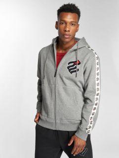 Rocawear / Zip Hoodie Stripe in grey