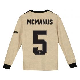 Manchester United Cup Away Shirt 2019 - 20 - Kids - Long Sleeve with McManus 5 printing