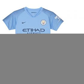 Manchester City Home Stadium Kit 2018-19 - Little Kids with Parris 17 printing