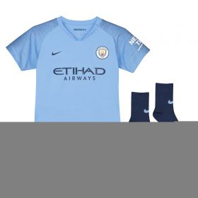 Manchester City Home Stadium Kit 2018-19 - Little Kids with Ross 16 printing