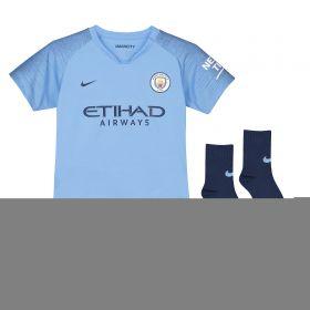 Manchester City Home Stadium Kit 2018-19 - Little Kids with Scott 8 printing