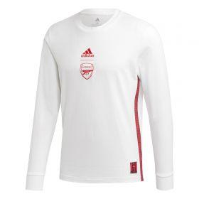 Arsenal Seasonal Long Sleeve Tee - White