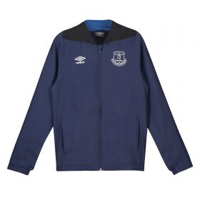 Everton Training Woven Jacket - Dark Blue - Kids