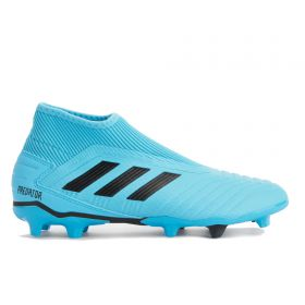 adidas Predator 19.3 Leather Firm Ground Football Boots - Blue