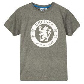 Chelsea High Build Graphic T-Shirt - Grey Marl - Boys