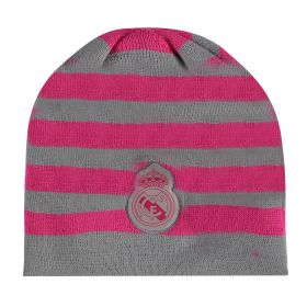 Real Madrid Stripe Hat - Pink/Grey - Womens