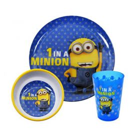 Комплект За Хранене DESPICABLE ME 1 In A Minion 3PC Dinner Set
