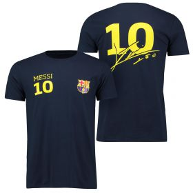 Barcelona 2016 Tour Player T-Shirt Messi 10 - Mens - Navy