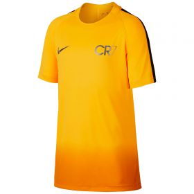 Nike CR7 Dry Squad Top Ss Gx - Laser Orange/Metallic Silver - Kids