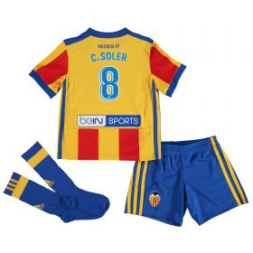 Valencia CF Away Minikit 2017-18 with C. Soler 18 printing