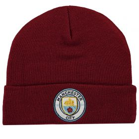 Manchester City Core Cuffed Knit - Maroon - Adult