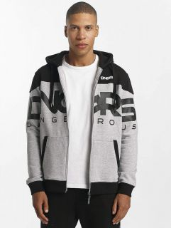 Мъжки суичър Dangerous DNGRS / Zip Hoodie Two Tone in grey