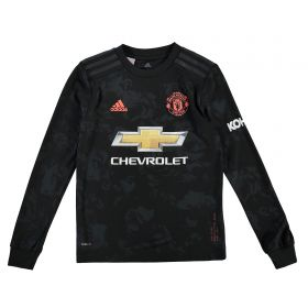 Manchester United Third Shirt 2019 - 20 - Kids - Long Sleeve with Solskjaer 20 printing