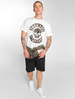 Thug Life / T-Shirt B. Camo in white