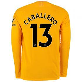 Chelsea Gold Stadium Goalkeeper Shirt 2019-20 - Long Sleeve - Kids with Caballero 13 printing
