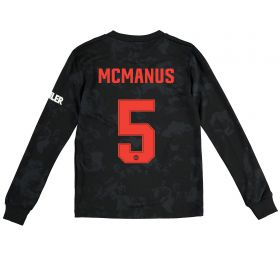 Manchester United Cup Third Shirt 2019 - 20 - Kids - Long Sleeve with McManus 5 printing