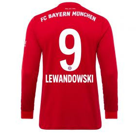 FC Bayern Home Long Sleeve Shirt 2019-19 - Kids with Lewandowski 9 printing