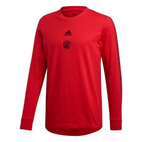Manchester United Seasonal LS Tee - Red