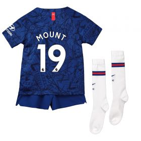 Chelsea Home Stadium Kit 2019-20 - Little Kids with Mount 19 printing
