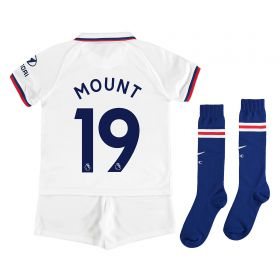 Chelsea Away Stadium Kit 2019-20 - Little Kids with Mount 19 printing