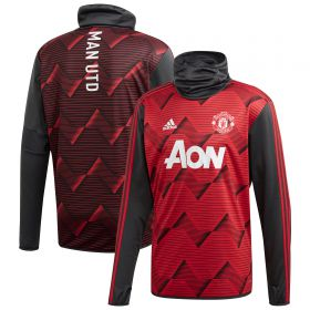 Manchester United Pre Match Warm Top - Grey