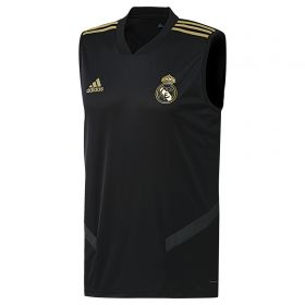 Real Madrid Training Sleevless Jersey - Black
