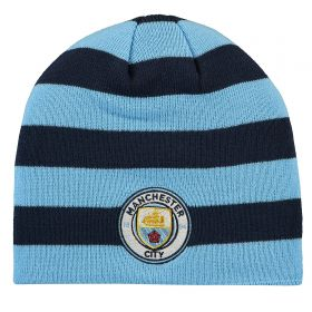 Manchester City Stripe Skull Knit - Navy/Sky Blue - Adult