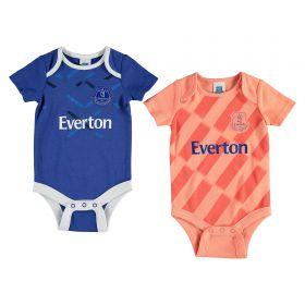 Everton Kit 2 Pk Bodysuits - Blue/Coral - Baby