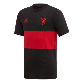 Manchester United Graphic Tee - Black - Kids