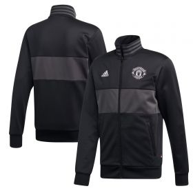 Manchester United Three Stripes Track Top - Black