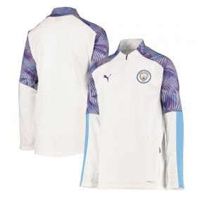 Manchester City Training Fleece - White - Kids