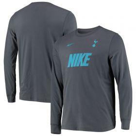 Tottenham Hotspur Long Sleeve Dry Match T-Shirt - Grey