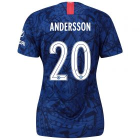 Chelsea Home Cup Stadium Shirt 2019-20 - Womens with Andersson 20 printing