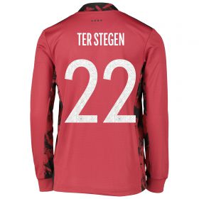 Germany Goalkeeper Shirt - Kids with Ter Stegen 22 printing