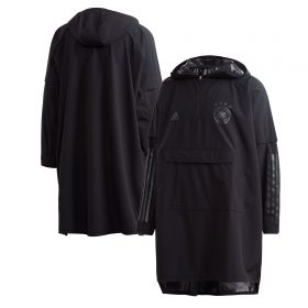 Germany Poncho Coat - Black