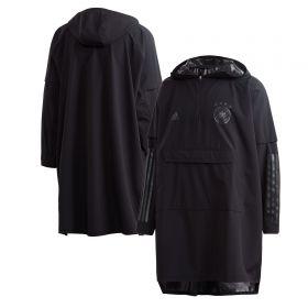 Germany Poncho Coat - Black