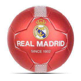 Real Madrid Crest Football - Size 5 - Red