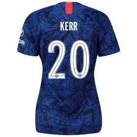 Chelsea Home Cup Stadium Shirt 2019-20 - Womens with Kerr 20 printing