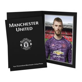 Manchester United Personalised Signature Photo In Presentation Folder - David De Gea