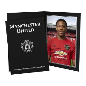 Manchester United Personalised Signature Photo in Presentation Folder - Martial