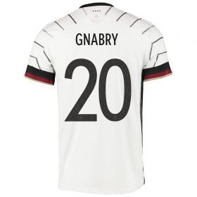 Germany Authentic Home Shirt with Gnabry 20 printing