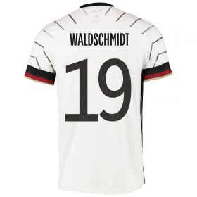 Germany Authentic Home Shirt with Waldschmidt 19 printing
