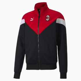 AC Milan Iconic MCS Track Jacket - Black
