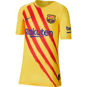 Barcelona Nike Stadium Short Sleeve Jersey - Youth