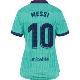 Barcelona Third Stadium Shirt 2019-20 - Womens with Messi 10 printing