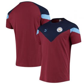 Manchester City MCS Tee - Burgundy