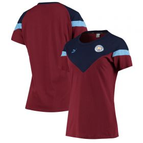 Manchester City MCS Tee - Burgundy - Womens