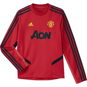 Manchester United LS Training Top - Red - Kids