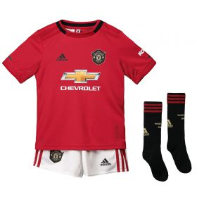 Manchester United Home Mini Kit 2019 - 20 with Gomes 28 printing